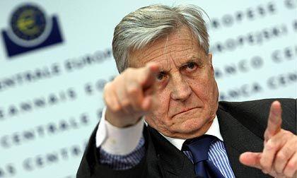 Mahner: EZB-Chef Jean-Claude Trichet warnt vor der Einführung von Mindestlöhnen