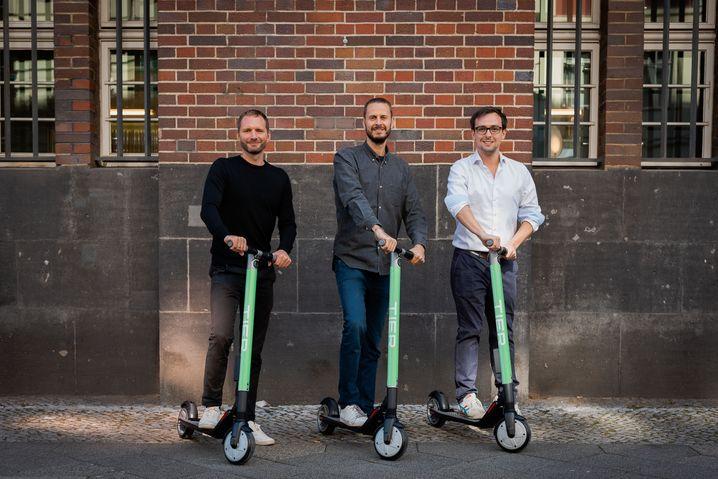 Tier gewinnt: Julian Blessin (CPO), Lawrence Leuschner (CEO) und Matthias Laug (CTO) erwarten für 2020 eine Verdoppelung ihres Umsatzes