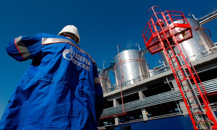 Gazprom-Fabrik in Moskau: Der Konzern fährt die Investitionen runter