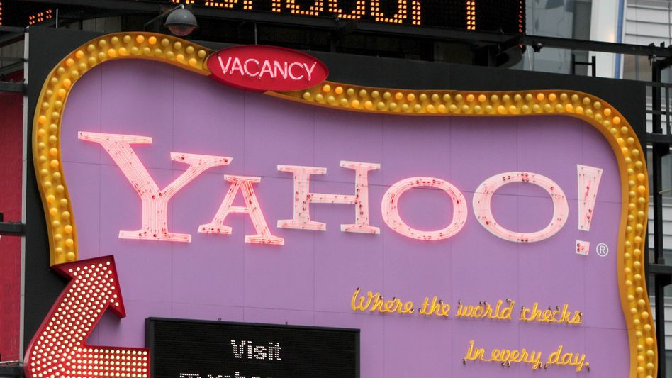 Yahoo-Werbung am Times Square in New York: Die Beteiligungsoptionen für das Unternehmen sind vielfältig.