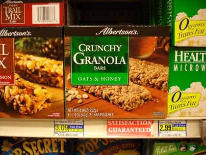 "Trend ""Feine Handelsmarken"": Albertson's Crunchy Bars"