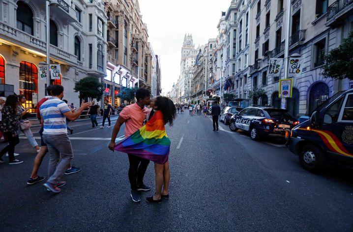 Gran Via in Madrid: Nur noch Anwohner-Fahrzeuge sollen künftig in der Innenstadt fahren dürfen