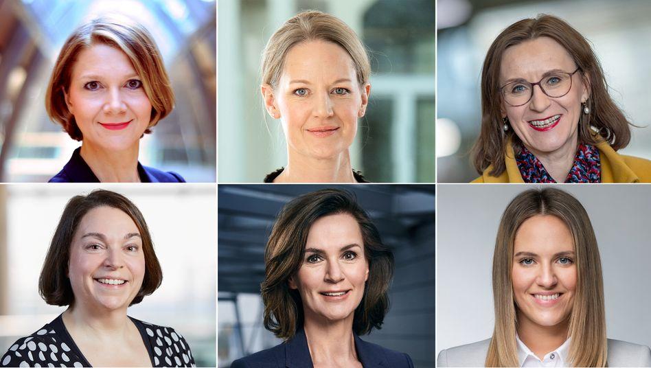 Sie werden 2020 wichtig: Doreen Nowotne, Anna Maria Braun, Sigrid Nikutta, Melanie Köhler, Hildegard Wortmann, Christina Foersters (von oben links im Uhrzeigersinn).