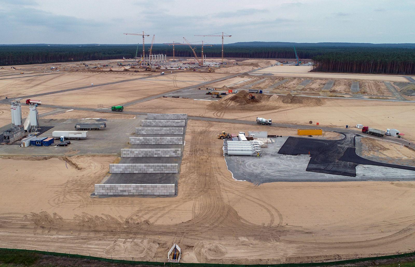 Baugelände Tesla Giga-Factory