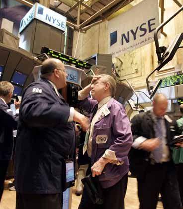 Allzeithoch erwartet: Händler an der NYSE in New York