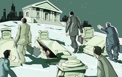 Notierungen zu Mondpreisen: Begabte Verkäufer erlösen Millionen, indem sie -wie zu den Hochzeiten der New Economy -Hightech-Start-ups an die Börse bringen, deren Kursentwicklung nichts als Hoffnungen spiegelt
