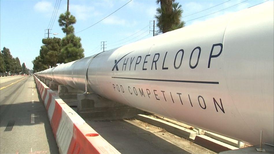 Hyperloop: Der Prototyp erreichte eine Geschwindigkeit von 324 km/h.