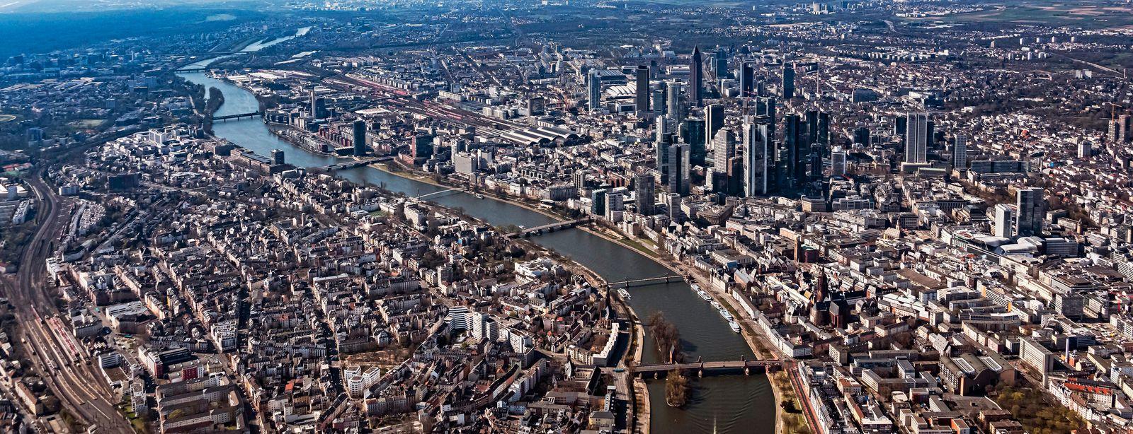Luftbild Innenstadt Frankfurt am Main