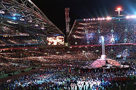 Das Stadion zur Abschlussfeier: Ein grandioses Fest zum Schluss