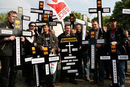 Heftige Demonstrationen: Continental-Beschäftigte wehren sich gegen mögliche Werksschließungen