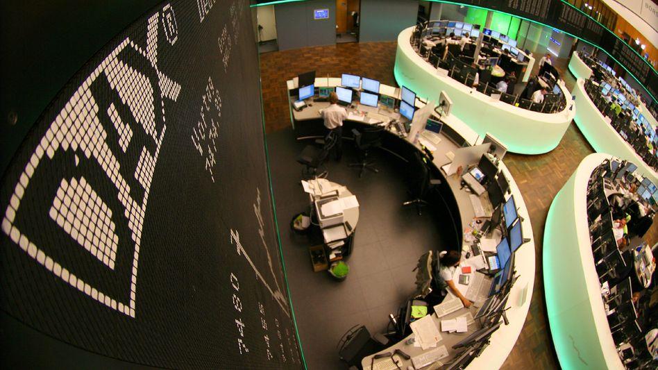 Börsensaal in Frankfurt: Investoren sind gegenwärtig zurückhaltend