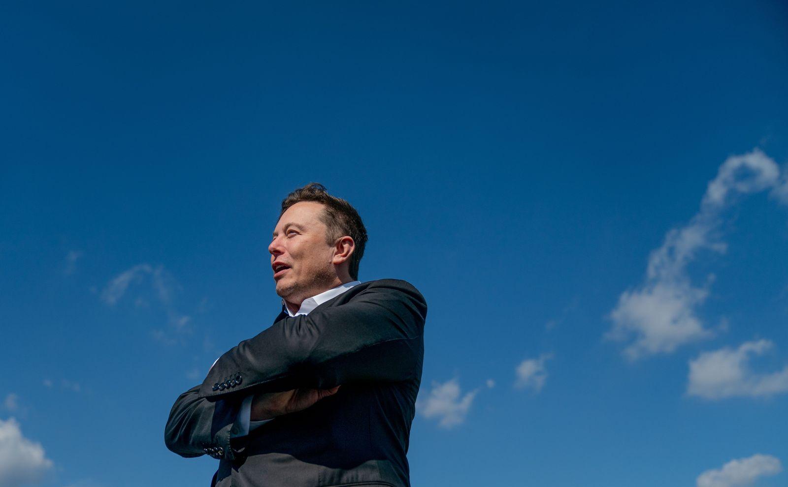 Elon Musk in Germany, Gruenheide - 03 Sep 2020