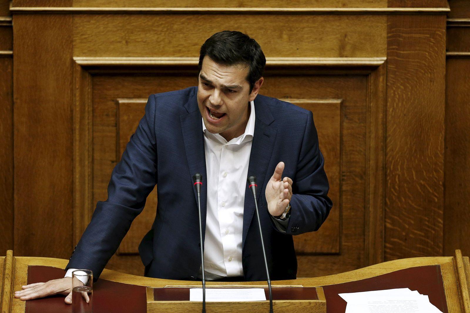 Griechenland-Bilder / Tsipras Parlament