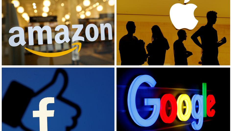 Fab Four: Milliardengewinne bei Amazon, Apple, Facebook und Google.