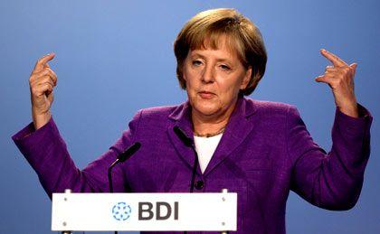 Fordert Engagement: Bundeskanzlerin Merkel stärkt Exportunternehmern den Rücken