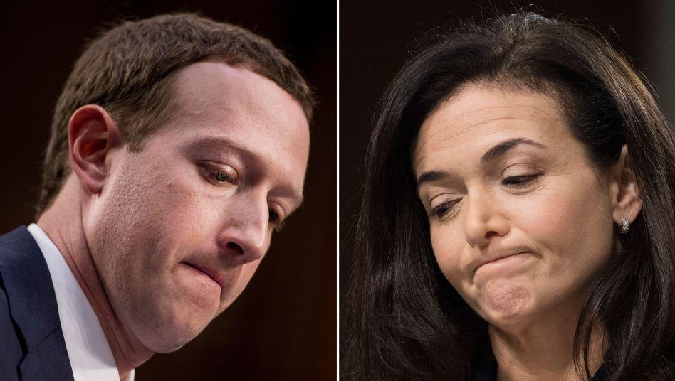 Haben versucht, bei Facebook Skandale zu vertuschen: Mark Zuckerberg und Sheryl Sandberg