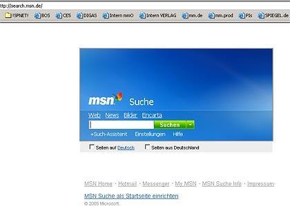 MSN Search: Der Suchassistent verfeinert die Suche