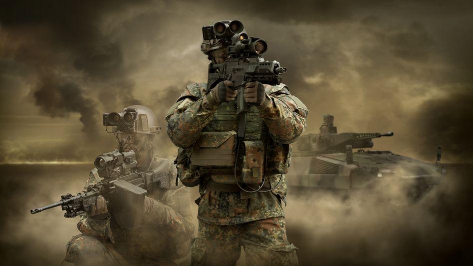 Soldaten mit Rheinmetall-Ausrüstung: 100-Millionen-Euro-Geschäft geplatzt
