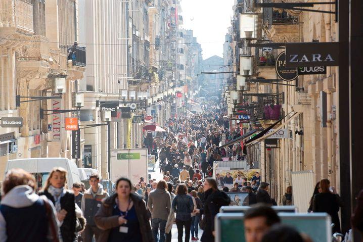 Binnennachfrage als stabile Stütze: Einkaufsstraße in Bordeaux