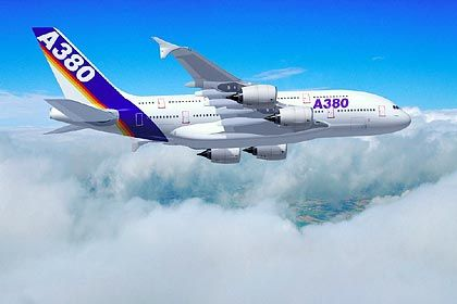 13 Prozent weniger Verbrauch: Der Antrieb des A380 verbraucht im Vergleich zum betagten Konkurrenten B747 eine ordentliche Portion weniger Kerosin