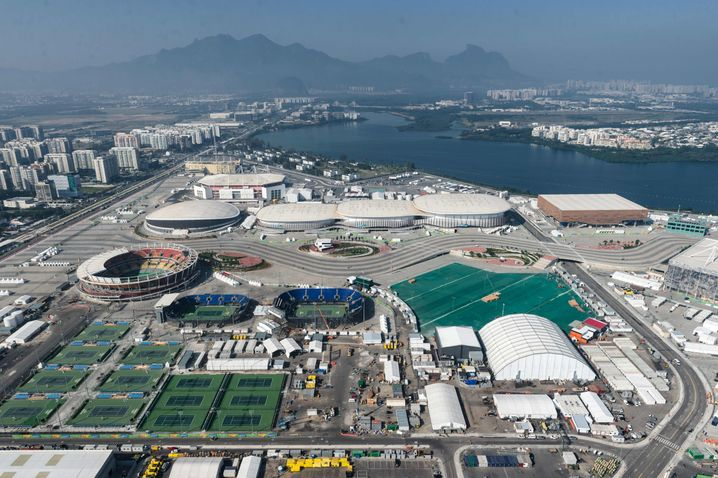 Billiger gebaut: Der Olympiapark in Barra da Tijuca, das Herzstück der Spiele