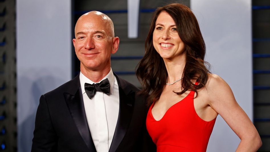 Jeff and MacKenzie Bezos im Jahr 2018