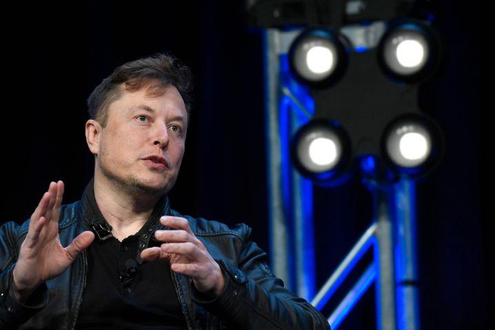 Tesla und SpaceX-Chef Elon Musk bei der SATELLITE-Konferenz in Washington, 9. März 2020