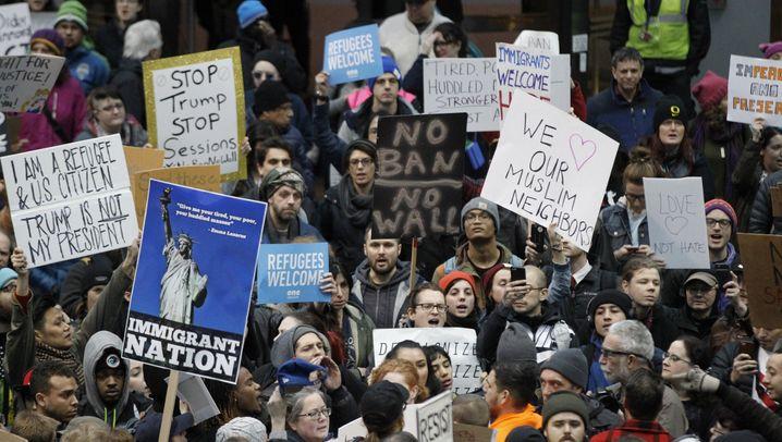 Goldman, Ford, Amazon und Co.: So macht Amerikas Wirtschaft Front gegen Trumps Einreisestopp