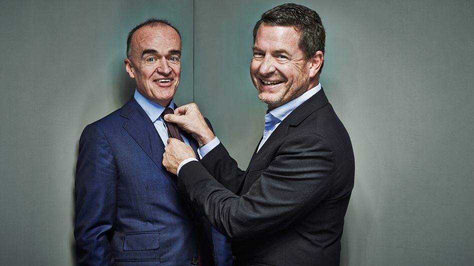 Volks-Kapitalisten: Ex-Bild-Chef Kai Diekmann und sein Schulfreund Lenny Fischer (links)