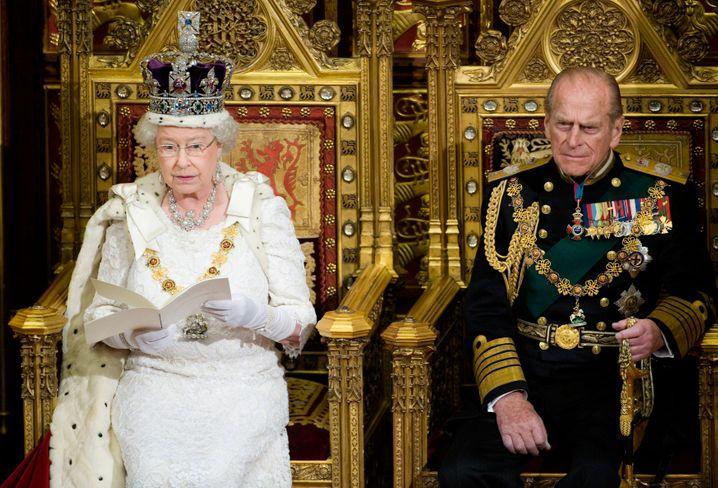 Queen Elizabeth im Parlament (Archivaufnahme von 2008)
