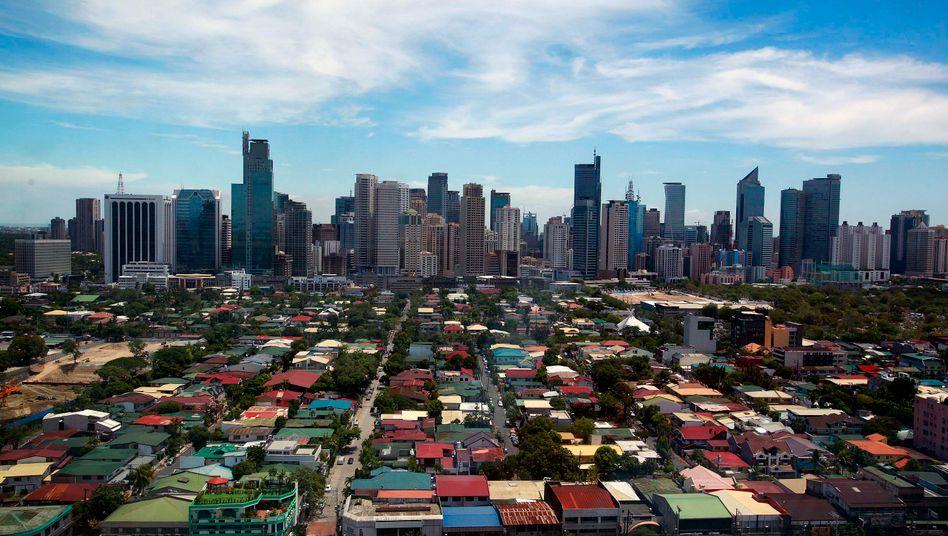 Skyline von Manila: Der deutsche Manager ist in einem Krankenhaus in der philippinischen Metropole gestorben