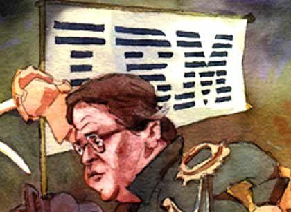 Softwareplattform: Websphere Funktionsweise: IBM verfügt bereits über diverse Einzelprodukte, die Funktionen einer Softwareplattform erfüllen. Mit Hilfe der Mitglieder der Websphere-Familie lassen sich zum Beispiel Programme verschiedenster Hersteller vereinheitlichen. Andere Elemente steuern die Hardware oder managen Portale für einen einheitlichen Zugriff auf die diversen Anwendungen. Programmsprache: Java. Fertigstellung: Die gesamte Produktfamilie ist bereits seit 2000 erhältlich. Markt: IBM ist derzeit Marktführer bei Middleware und wird wohl einen hohen Anteil bei Plattformen halten können.