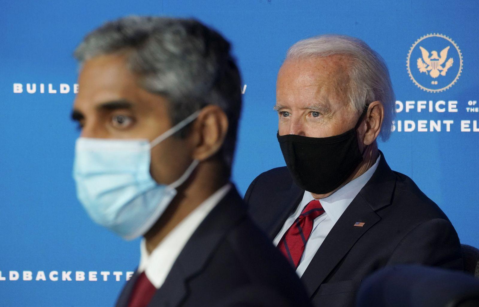 U.S. President-elect Joe Biden announces members of his health team in Wilmington, Delaware