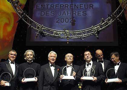"""Die Gewinner: Die """"Entrepreneure des Jahres"""" 2002 bei der Preisverleihung"""