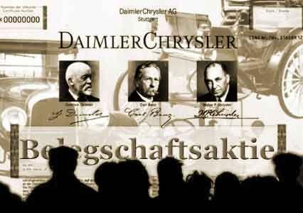 Mitarbeiter als Unternehmer: Auch bei DaimlerChrysler können die Angestellten sich am Konzern beteiligen