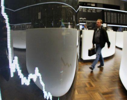 Hohe Nervosität: Anzeigetafel an der Frankfurter Börse