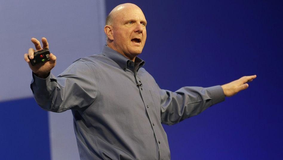 IT-Schwergewicht: Steve Ballmer gab gegenüber den Mitarbeitern auch gerne den Einpeitscher