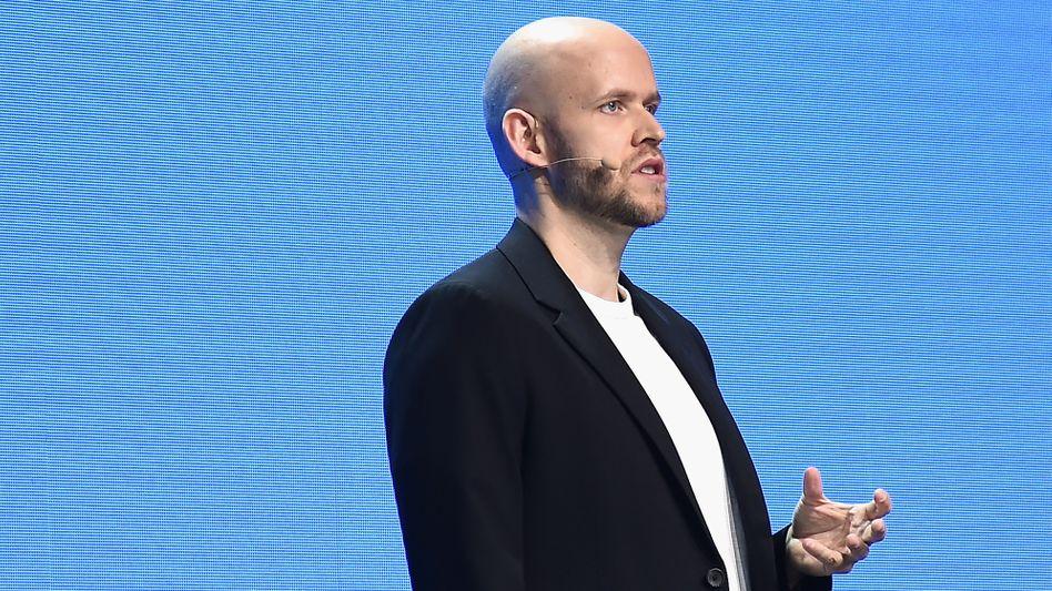 Keine Gewinne, aber Marktmacht: Spotify-Chef Daniel Ek Mitte März auf seiner Werbetour für Investoren in New York.