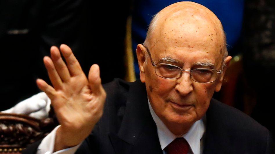 Vor Herkulesaufgabe: Der italienische Staatspräsident Giorgio Napolitano