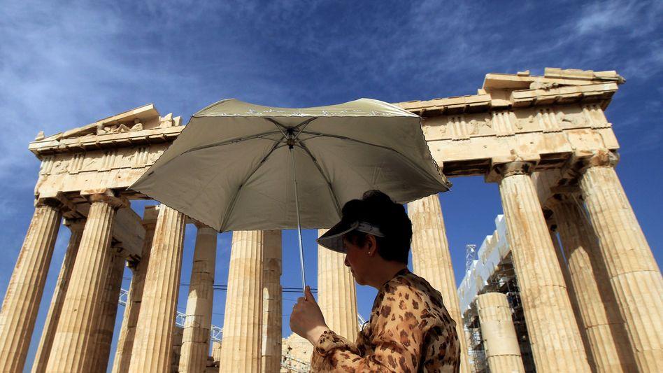 Unterm Rettungsschirm: Griechenland hofft auf die Auszahlung der nächsten Kredittranche