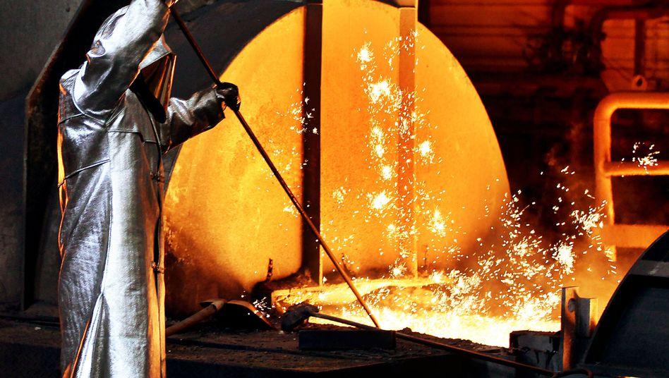 Hochofen von ThyssenKrupp: Der Konzern will die defizitäre Stahlsparte loswerden
