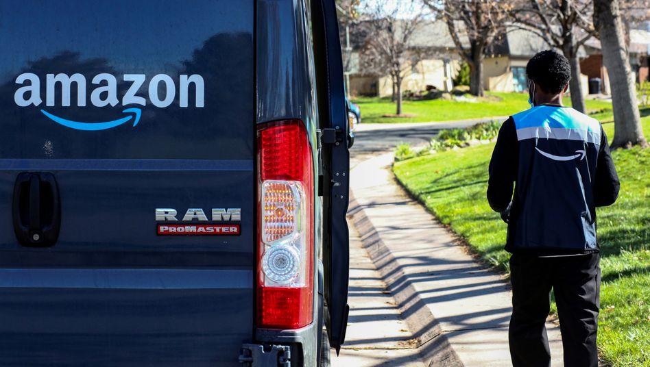 Amazon-Zusteller in den USA mit Kundenkontakt