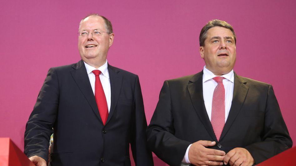 SPD-Granden: Politiker Steinbrück (l.) und Gabriel