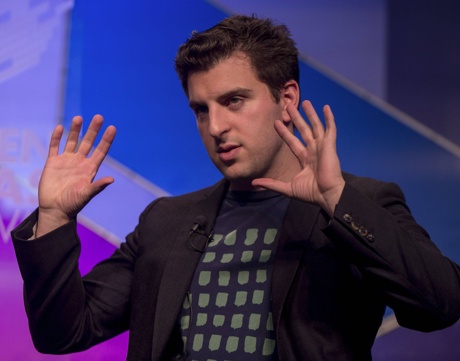 June 29, 2014 - Aspen, Colorado, U.S. - BRIAN CHESKY, CEO of Airbnb, discusses Airbnb: How the Sharing Economy is Redef