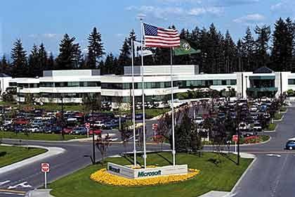 Microsoft - hier die Zentrale in Seattle - will im laufenden Jahr noch mehr Umsätze erwirtschaften