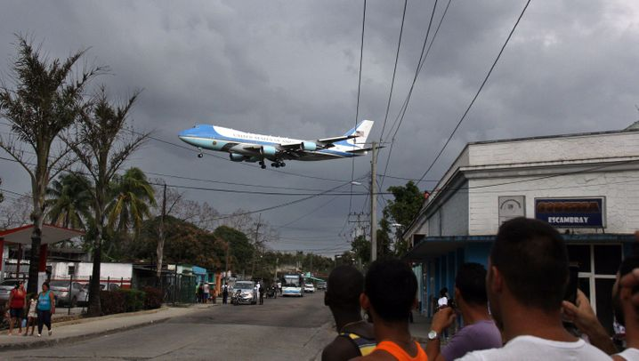 """Historische Reise von Obama: """"Wie geht's, Kuba?"""""""