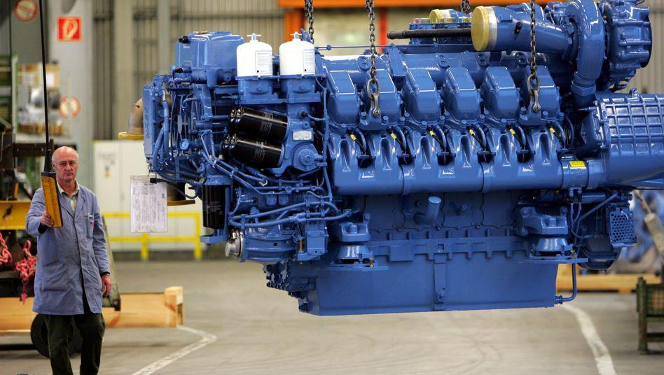 Großmotorenhersteller Tognum: Das von Daimler und Rolls-Royce umworbene Unternehmen hat ein gutes erstes Quartal hinter sich