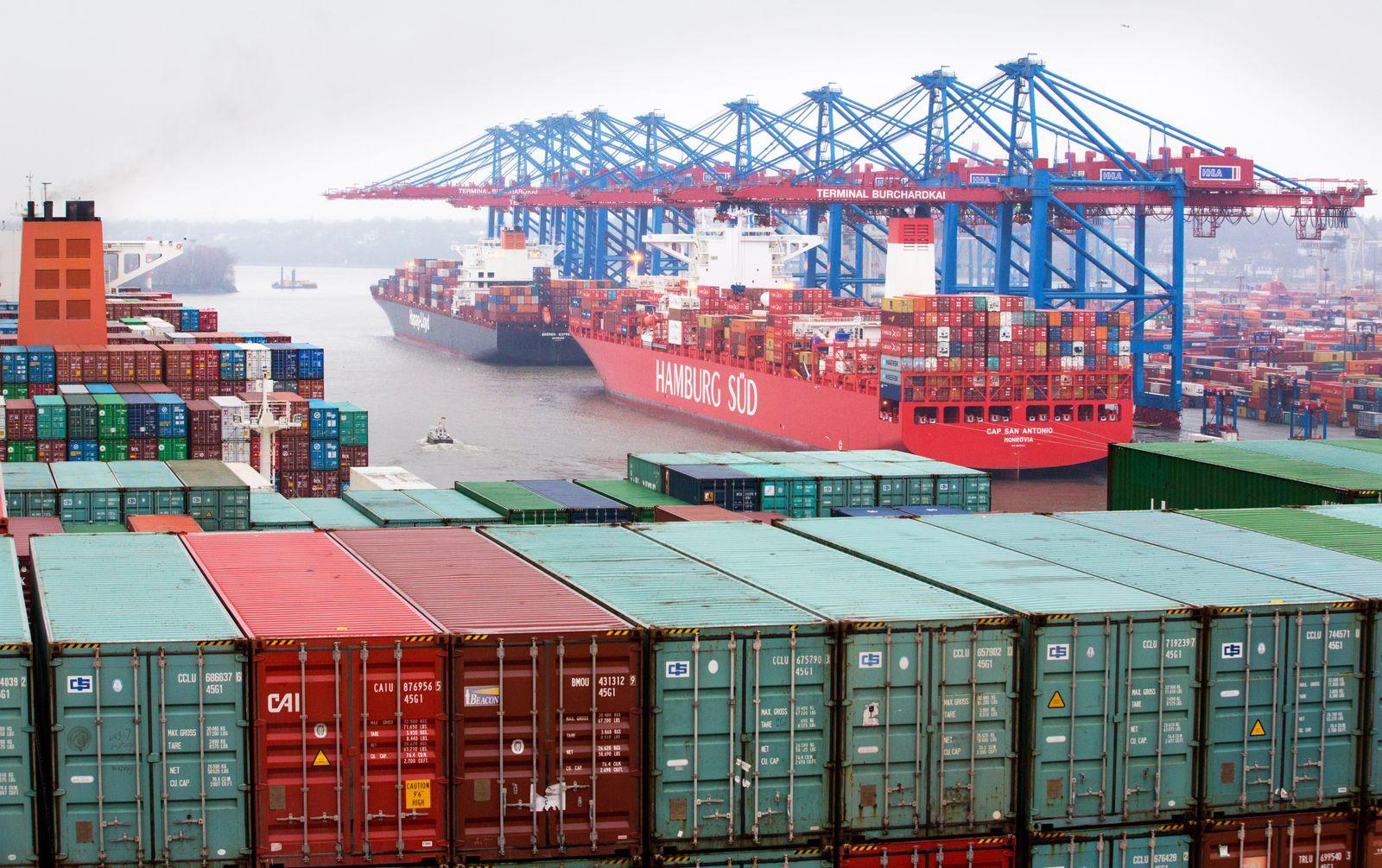 Reederei Hamburg Süd / Containerterminal in Hamburg
