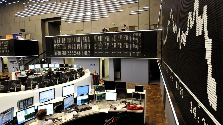 Börse in Frankfurt: Die Risikoaufschläge auf spanische Anleihen belasten