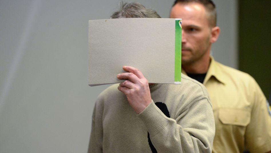 """Angeklagter Thomas Z. S. am 15.12.2014 im Landgericht München: """"Die Strafzumessung hält rechtlicher Überprüfung nicht stand"""", urteilte der BGH"""